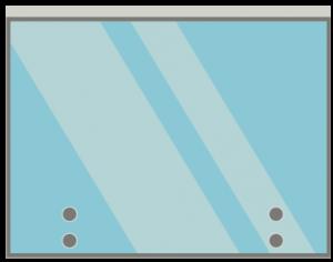 Face fixed glass balustrade